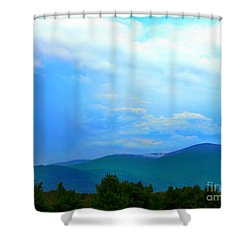 Shower Curtain featuring the photograph Blue Ridge Mountains by Judy Palkimas