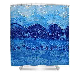 Blue Ridge Original Painting Shower Curtain by Sol Luckman