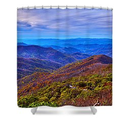Shower Curtain featuring the photograph Blue Ridge Parkway by Alex Grichenko
