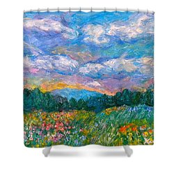 Blue Ridge Wildflowers Shower Curtain