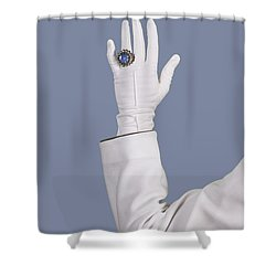 Blue Ring Shower Curtain by Joana Kruse