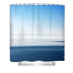 Blue Sea Scene Shower Curtain