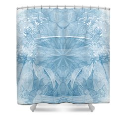 Shower Curtain featuring the photograph Blue Serinity by Geraldine DeBoer