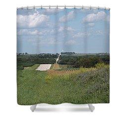 Blue Skies Shower Curtain by Caryl J Bohn