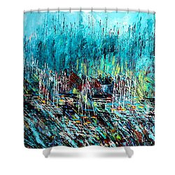 Blue Skies Chicago - Sold Shower Curtain by George Riney
