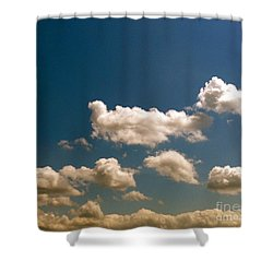 Blue Skies II Shower Curtain by M West