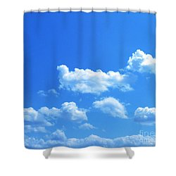 Blue Skies IIi Shower Curtain by M West