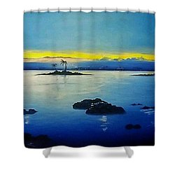 Blue Skies Shower Curtain