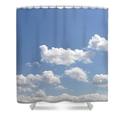 Blue Skies Shower Curtain by M West
