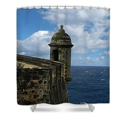 Blue Skies On The Horizon Shower Curtain