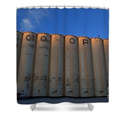 blue sky Co-op Shower Curtain