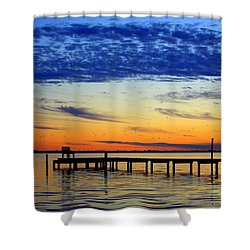 Blue Sky Shower Curtain by Faith Williams