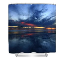 Cardiff By The Sea Symphony   Shower Curtain