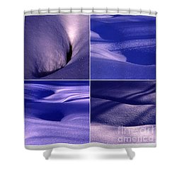 Shower Curtain featuring the photograph Blue Snow by Randi Grace Nilsberg