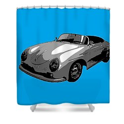Blue Speedster Shower Curtain by J Anthony
