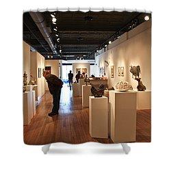 Blue Spiral Gallery In Asheville Shower Curtain