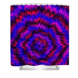 Blue Super Nova Shower Curtain