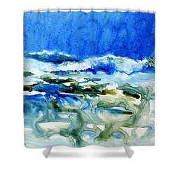 Blue Surf Shower Curtain
