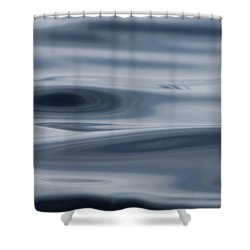 Blue Swirls Shower Curtain by Cathie Douglas