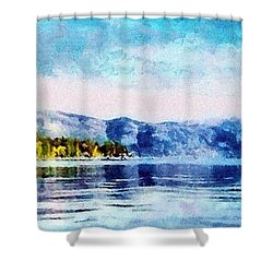 Blue Tahoe Shower Curtain by Jeffrey Kolker