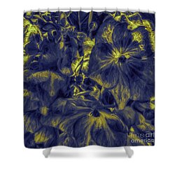 Blue Tango Floral Shower Curtain