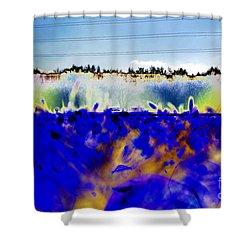 Blue Things Shower Curtain by Carol Lynch