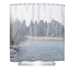Blue Tint Shower Curtain