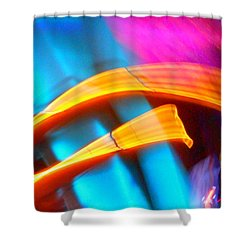 Blue Tonado On Venus Shower Curtain