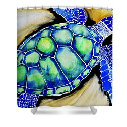 Blue Turtle Shower Curtain