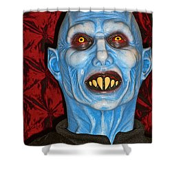 Shower Curtain featuring the photograph Blue Vampire by Joan Reese