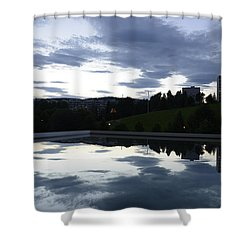 Shower Curtain featuring the photograph Blue Visions 1 by Teo SITCHET-KANDA