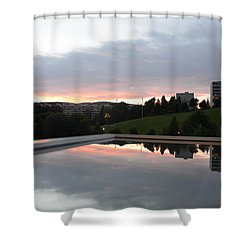 Shower Curtain featuring the photograph Blue Visions 2 by Teo SITCHET-KANDA