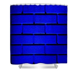 Blue Wall Shower Curtain by Semmick Photo