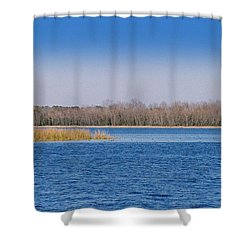 Blue Water Blue Sky Shower Curtain by Paul  Wilford