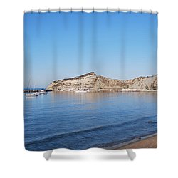 Shower Curtain featuring the photograph Blue Water by George Katechis