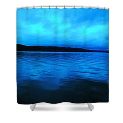 Blue Water In The Morn  Shower Curtain by Jeff Swan