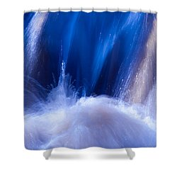 Blue Water Shower Curtain by Torbjorn Swenelius