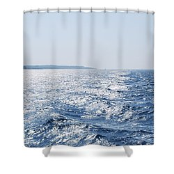 Shower Curtain featuring the photograph Blue Waters by George Katechis