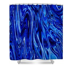 Blue Waves Of Beauty Shower Curtain by Omaste Witkowski