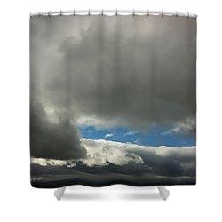 Blue Window Shower Curtain by Donna Blackhall
