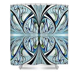 Blue Wings Shower Curtain by Anastasiya Malakhova