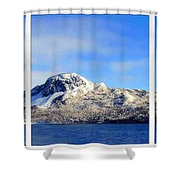 Blue Winter Triptych Shower Curtain by Barbara Griffin