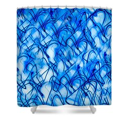 Blue Wispy Shower Curtain