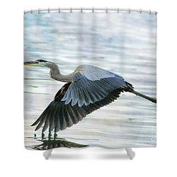 Blue With Grace And Beauty Shower Curtain