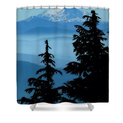 Blue Yonder Mountain Shower Curtain