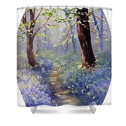 Bluebell Wood Shower Curtain by Meaghan Troup