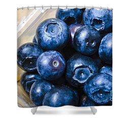 Blueberries Punnet Shower Curtain by Jorgo Photography - Wall Art Gallery