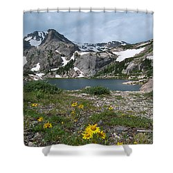 Shower Curtain featuring the photograph Bluebird Lake - Colorado by Cascade Colors