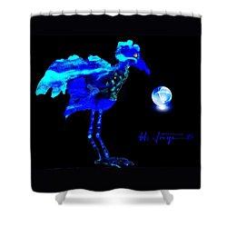 Bluebird Watching Shower Curtain by Hartmut Jager