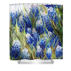 Bluebonnet Barrage  Shower Curtain